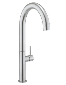 Cucina Tube Stainless Steel Round Tall Kitchen Sink Mixer Tap