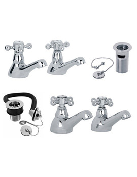 Mayfair Ritz Chrome Basin And Bath Tap Pack - RZ029