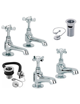 Mayfair Westminster Chrome Basin And Bath Tap Pack - WE009