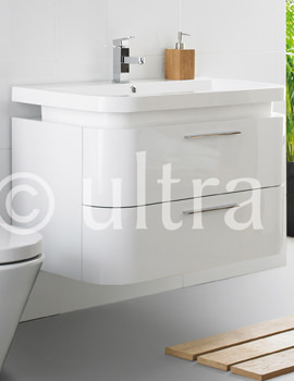 Related Ultra Bias White Wall Mounted Drawer Unit And Basin 900mm - RF016