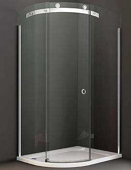 10 Series 1200 x 900mm Single Door LH Offset Quadrant Enclosure