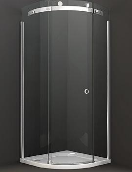 10 Series 800mm 1 Door Quadrant Enclosure - M103211C L