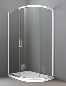 Merlyn 8 Series 900 x 760mm 1 Door Offset Quadrant Enclosure - M83222