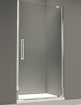 10 Series 900mm Clear Glass Pivot Shower Door - M101221C