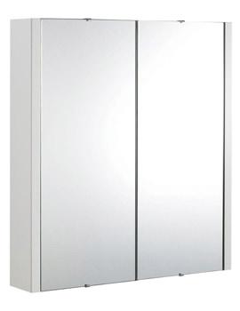 Ultra Lux High Gloss White 2 Door Mirror Cabinet 600mm - LUXMW600