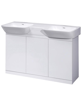 Related Ultra Lux White Floor Standing 3 Door Cabinet And Double Basin 1200mm