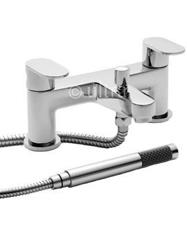 Ratio Deck Mounted Bath Shower Mixer Tap With Kit - RAT314