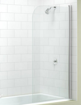 Single Curved Bath Screen 800 x 1500mm - MB1