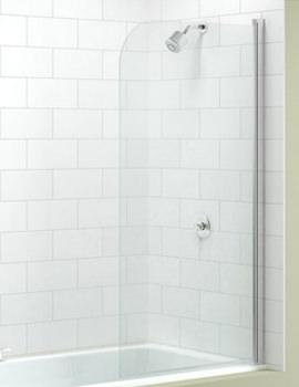 Single Curved Bath Screen 800 x 1500mm - MB1