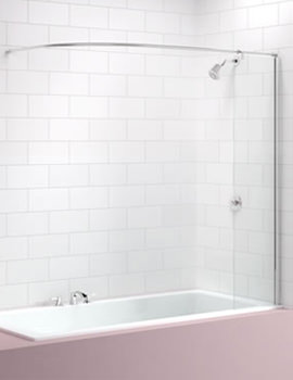 Curtain Rail Bath Screen 300 x 1550mm - MB5