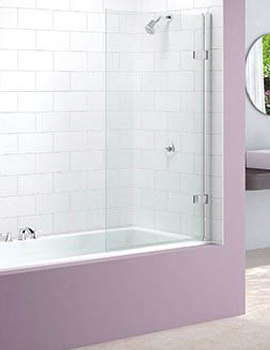 Hinged Square Bath Screen 850 x 1500mm - MB6