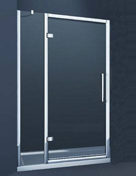Merlyn 8 Series 1000mm Hinge Shower Door With Single Inline Panel - M81231P