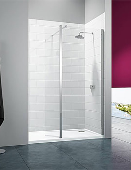 8 Series 1000mm Wetroom Shower Panel With 300mm Swivel Panel