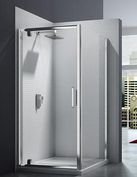 6 Series 8mm Clear Glass Pivot Shower Door 760-800mm - M61211