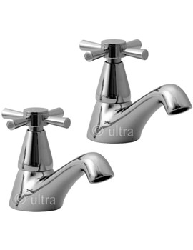Ultra Riva Pair Of Basin Taps - PY301