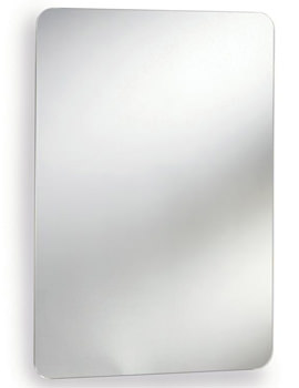 Ultra Image Stainless Steel Mirrored Cabinet With Hinged Door 460 x 660mm