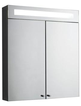 Tuscon Double Door Mirrored Cabinet With Light 620 x 700mm