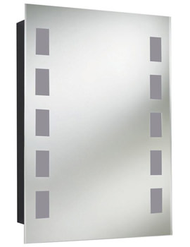 Argenta Single Door Mirror Cabinet 500 x 700mm - LQ377