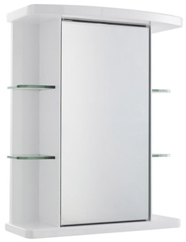 Virtue White Single Door Mirrored Cabinet 530 x 665mm -LQ372