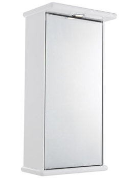 Niche Single Mirror Cabinet With Light And Digital Clock 400 x 800mm