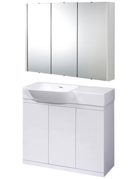 Ultra Lux 900mm High Gloss White Furniture Pack - LUX900-LUXMW900