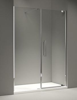 10 Series 1200mm Pivot Door And Inline Panel - M101241C