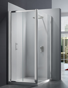 Merlyn 6 Series 4mm Clear Glass Bi-Fold Shower Door 900mm - M67221