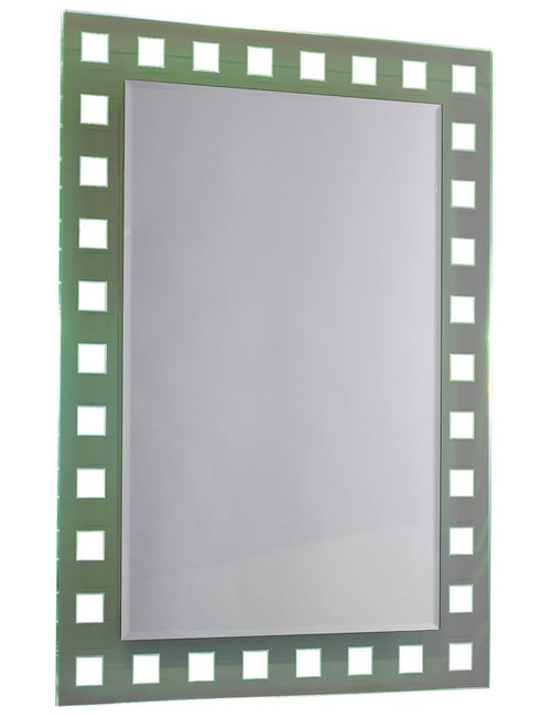 Large Image of Ultra Spectrum Colour-Change Bathroom Mirror 500 x 700mm - LQ388