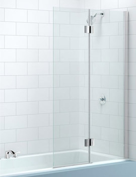 2 Panel Hinged Bath Screen Left Handed 900 x 1500mm - MB7L