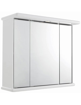 Cryptic Triple Mirror Cabinet With Light and Digital Clock 700 x 620mm
