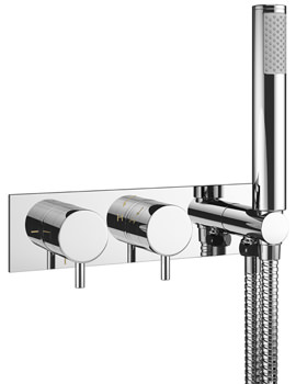 Mike Pro Chrome Thermostatic Bath Shower Valve With Kit