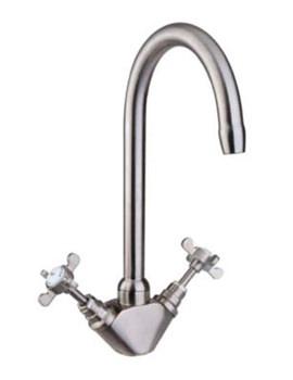 Mayfair Westminster Monoblock Brushed Kitchen Sink Mixer Tap-KIT004