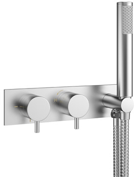 Related Crosswater Mike Pro Brushed Chrome Thermostatic Shower Valve With Kit