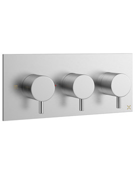 Related Crosswater Mike Pro Brushed Chrome Landscape Thermostatic Shower Valve