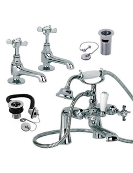 Mayfair Westminster Basin And Bath Shower Mixer Tap Pack - WE025