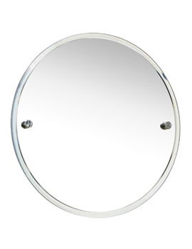 Bond 450mm Round Wall Mounted Bevelled Mirror - 8700C