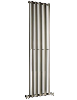 DQ Heating MKV16 Chrome 1810mm Single Vertical Radiator - 6 to 25 Sections