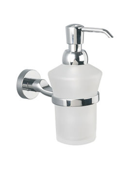 Bond Frosted Glass Lotion Bottle And Holder - 8734C