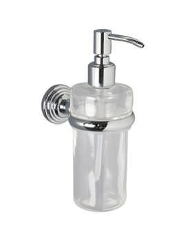 Miller Hartford Clear Glass Lotion Bottle And Holder - 7734C