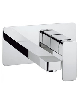 Atoll Wall Mounted 2 Hole Basin Mixer Tap Set