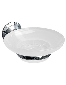 Metro Frosted Glass Soap Dish And Holder - 6304C-S