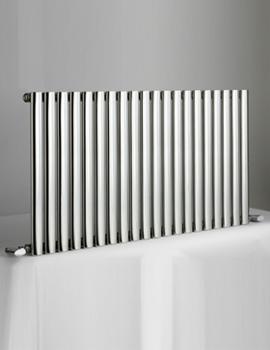 DQ Heating Cove 1003 x 600mm Stainless Steel Single Horizontal Radiator