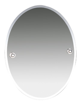 Oslo 400 x 505mm Bevelled Mirror - 8000C