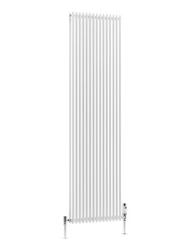 BKV16 13 Sections 366 x 810mm Double Vertical Radiator White