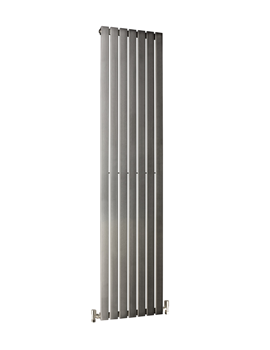 Image of DQ Heating Delta 230 x 1600mm Brushed Stainless Steel Vertical Radiator