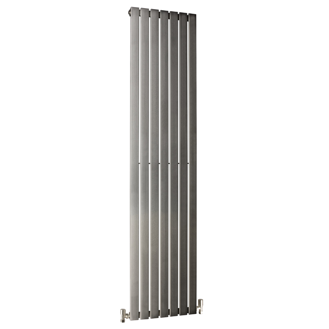 Large Image of DQ Heating Delta 230 x 1600mm Brushed Stainless Steel Vertical Radiator