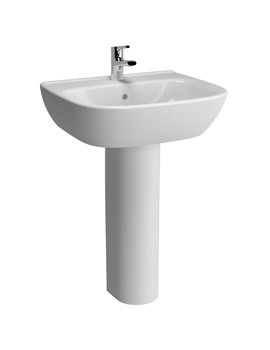 VitrA Zentrum 650mm Basin And Full Pedestal