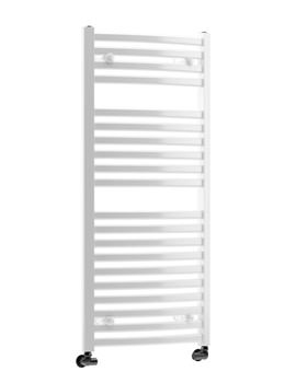DQ Heating Quebec Vertical Curved Heated Towel Rail 600 x 800mm