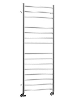 DQ Heating Siena Polished Stainless Steel Heated Towel Rail 400 x 490mm