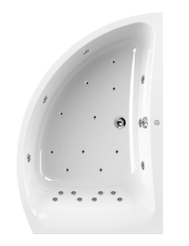 Aquaestil Comet 1500 x 1000mm 24 Jets Left Hand Whirlpool Bath